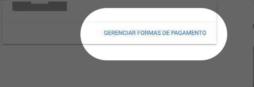 """Imagem com destaque para o botão """"Gerenciar formas de pagamento"""" no site do Google Adsense"""
