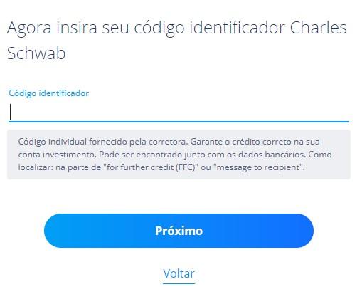 Descubra como encontrar o código identificador da corretora Charles Schwab