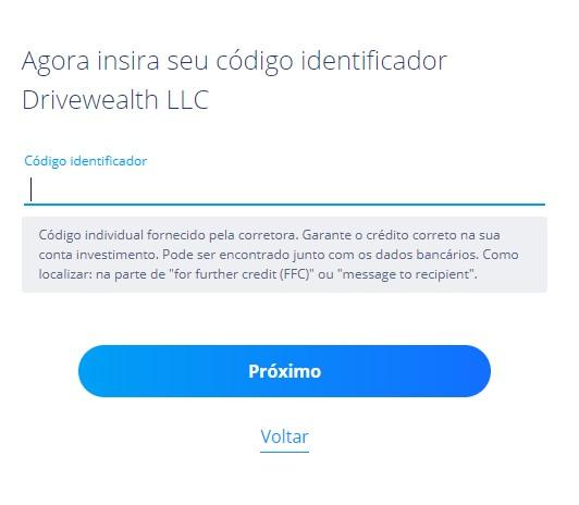 Saiba como encontrar o código identificador da DriveWealth