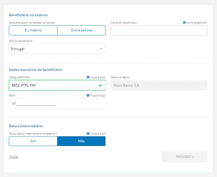 swift iban - Como enviar dinheiro para Portugal
