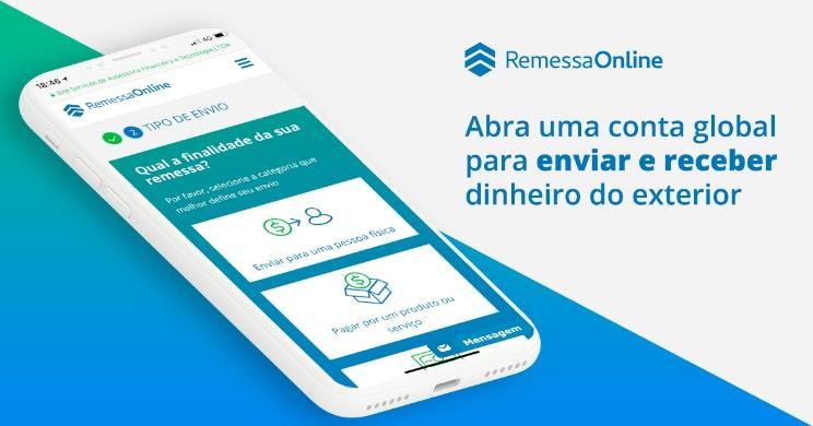 Envie e receba dinheiro dos Estados Unidos e de diversos outros países com a Remessa Online