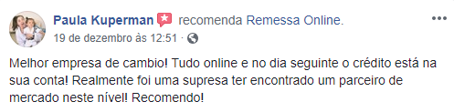 Review positivo da Remessa!