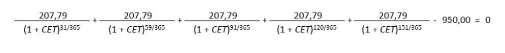 Fórmula para calcular o CET