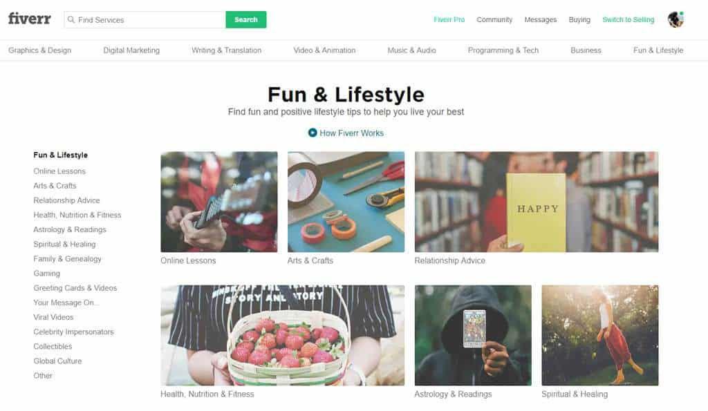 Categorias Fiverr 1024x595 - Trabalho Freelancer no Exterior: Conheça os principais sites!