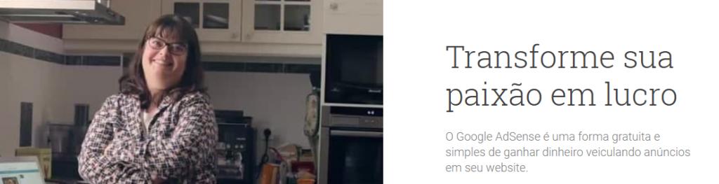 Google AdSense é um ótimo exemplo de como receber dinheiro dos Estados Unidos