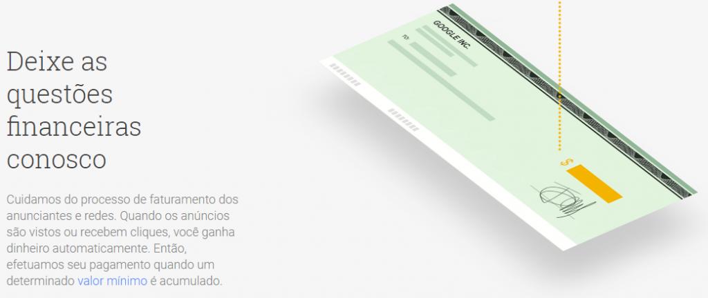 O Google Adsense remunera de acordo com o perfil do conteúdo produzido e com o número de visualizações.