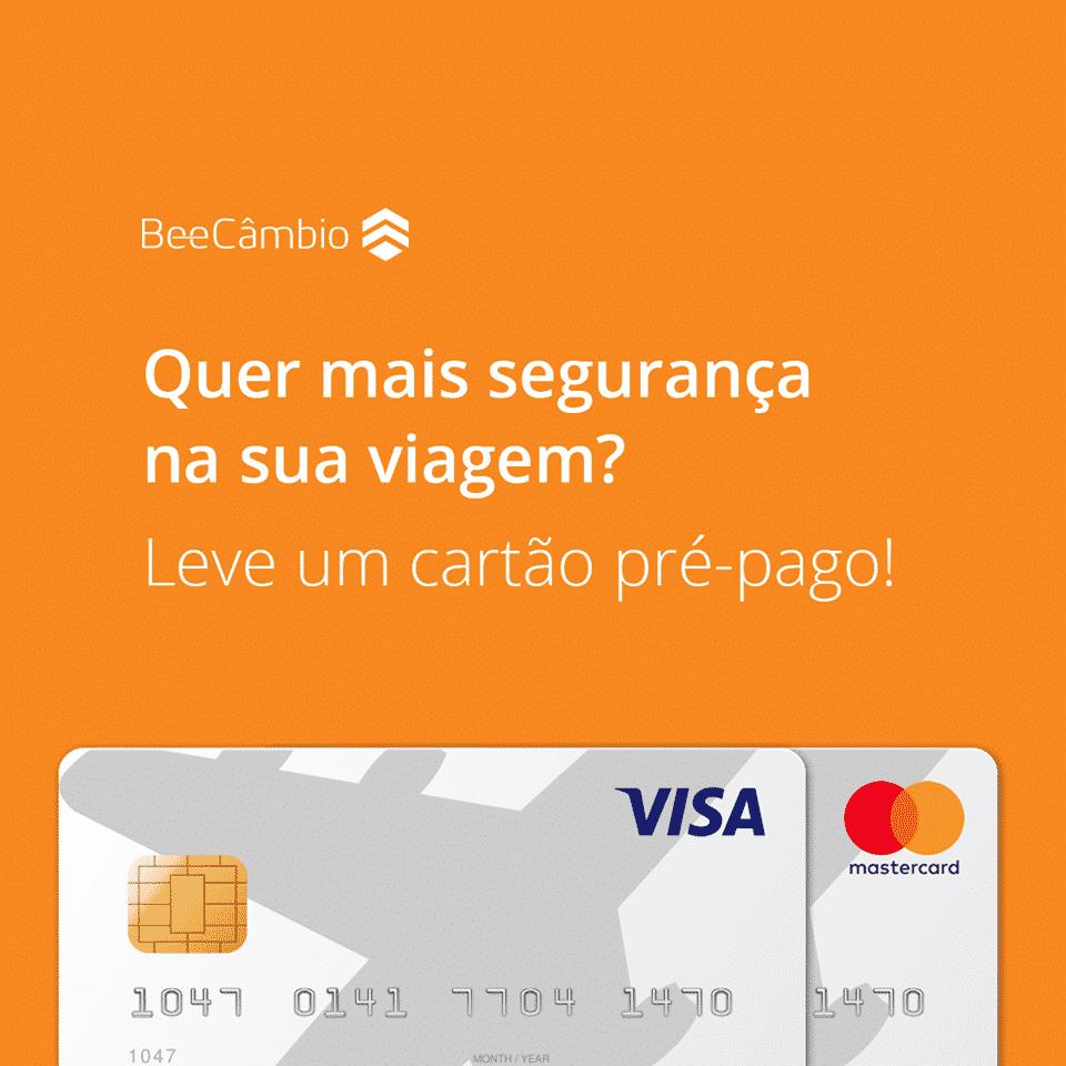 Travel Card Pré-Pago disponível na BeeCâmbio