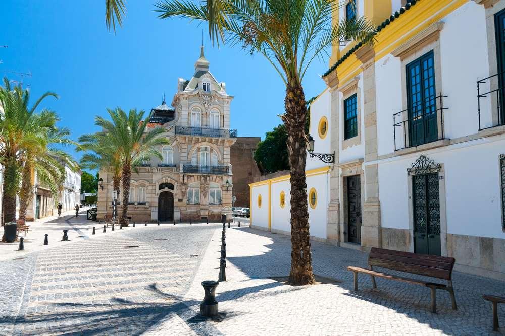 Cidade de Faro, em Portugal.
