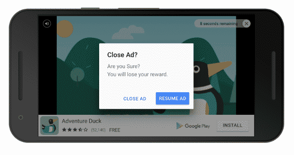 Monetize seu aplicativo usando Rewarded Video Ads