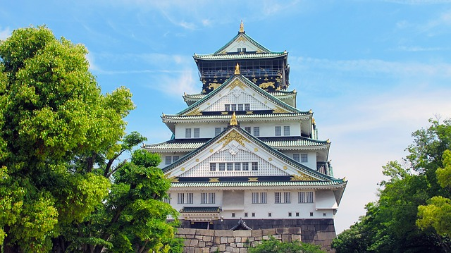 Castelo de Osaka, principal edifício histórico da cidade que leva o mesmo nome