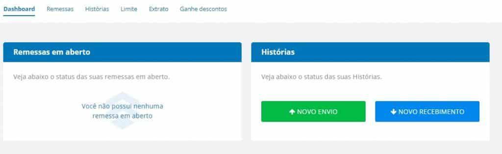 dashboard da remessa online 1024x314 - 6 Opções para Transferir Dinheiro para o Exterior