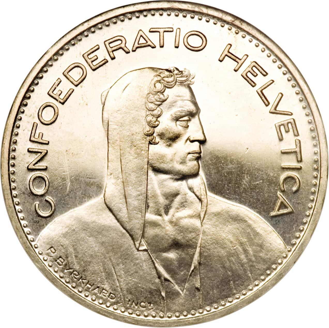 Moeda de 5 Francos Suíços