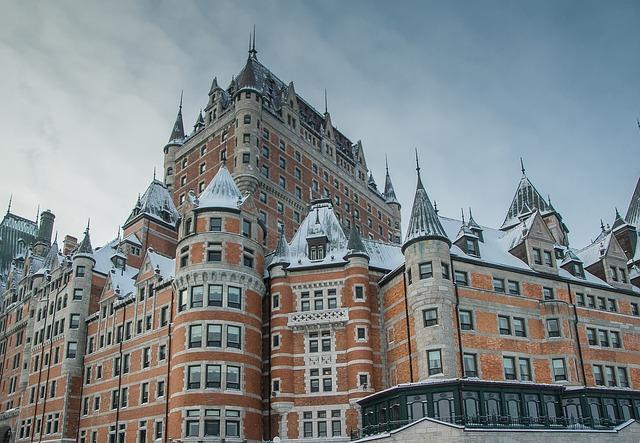 Chateau Frontenac, em Quebec: as temperaturas chegam a 40° Celsius negativos