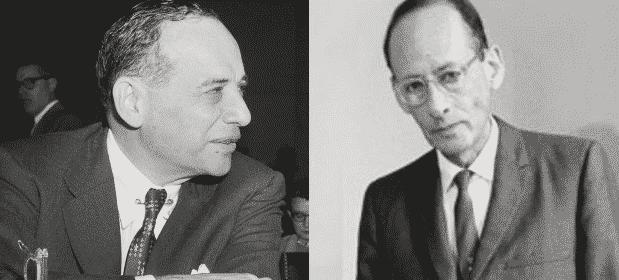 Os economistas Benjamin Graham (a esquerda) e Philip Fisher (a direita) são as maiores referências de Warren Buffett quando o assunto é investimento.