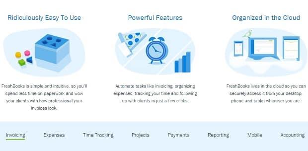 A interface do Freshbooks é uma das mais intuitivas quando o assunto é emissão de invoices.