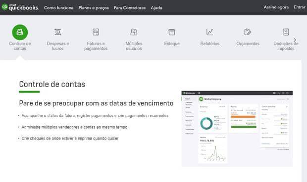 software para invoice quickbooks - Conheça os principais softwares para emissão de invoice