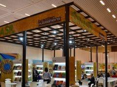 A Apex Brasil foi criada pelo governo federal para auxiliar empresas brasileiras a realizar comércio com outros países. Na imagem, estande do programa Brazilian Publishers em Guadalajara