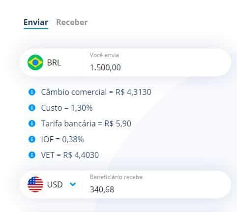 simulador remessa online - Transferência internacional Bradesco