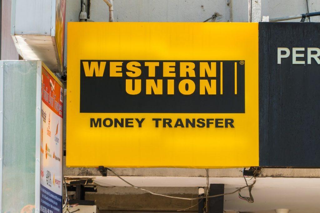 Letreiro de agência da Western Union