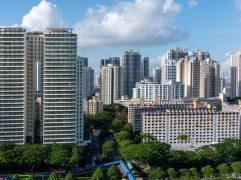 Estudar em Singapura: foto aérea de edifícios do local