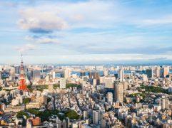 Morar em Tóquio: vista aérea da arquitetura da cidade